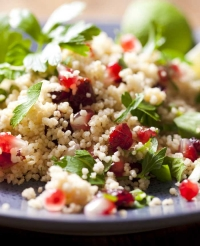 Mixed Greens with Barley & Pomegranate