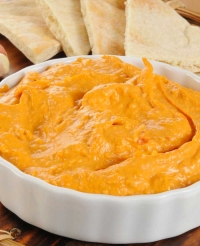 Spicy Roasted Red Pepper Hummus