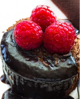 Chocolate Raspberry Balsamic Cupcakes