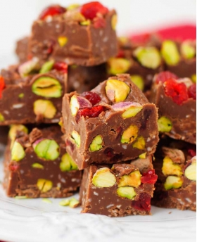 Decadent Pistachio Fudge with Espresso Balsamic