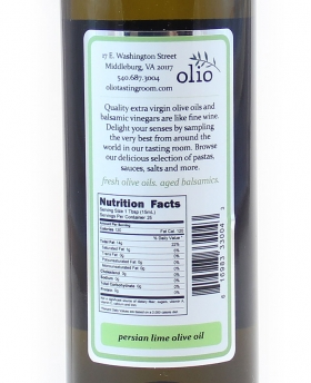 Persian Lime Olive Oil Nutrition Information