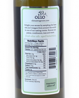 Rosemary Olive Oil Nutrition Information