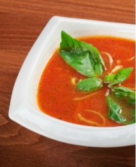 Tomato Basil Soup with Sun-dried Tomatoes